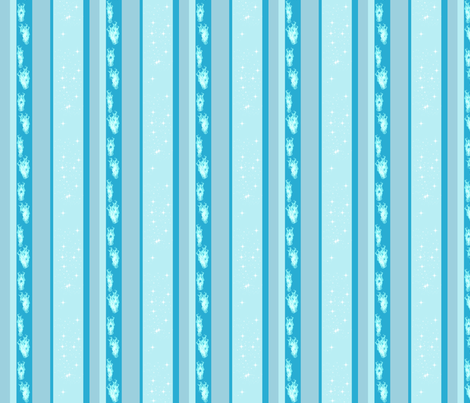 icy fire stripes fabric by pamelachi on Spoonflower - custom fabric