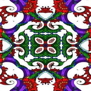 wycinanka_peacock_seamless_print_flat_001