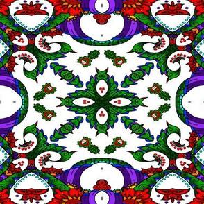 wycinanka_peacock_seamless_print_flat_007