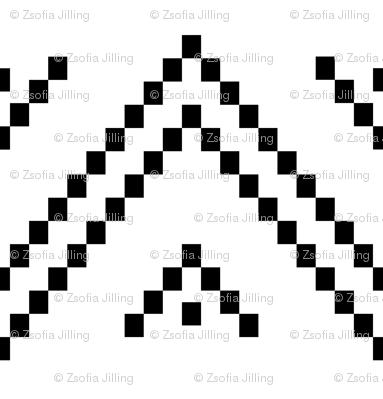 Pixellated Zig-Zag, large