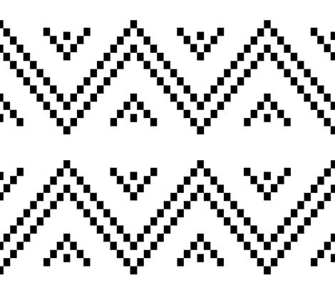 Pixellated Zig-Zag, large fabric by zsofi on Spoonflower - custom fabric