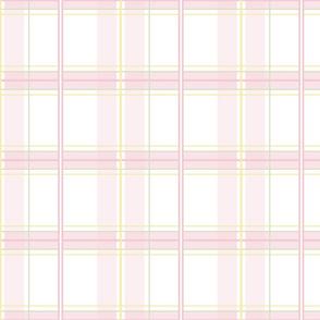 Rosemary Tartan in sorbet pink