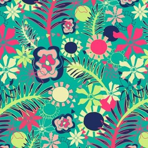 Tropical Flower Fiesta