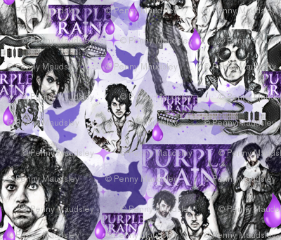 PURPLE RAIN WATERCOLOR