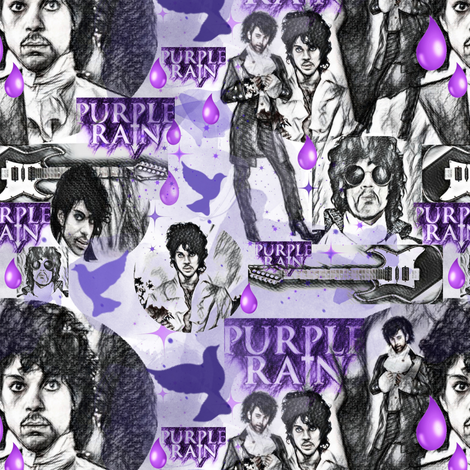 PURPLE RAIN WATERCOLOR fabric by bluevelvet on Spoonflower - custom fabric