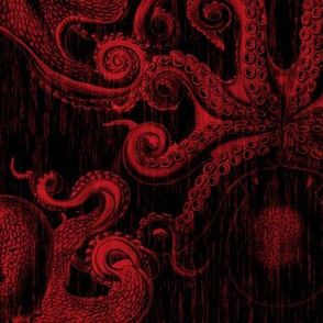 Octopus Old fashion Tapestry