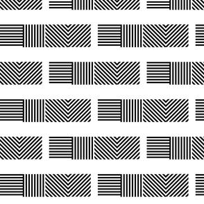 LeWitt-Inspired A, Lines 4 Ways, b/w