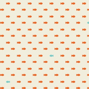Little orange fishes