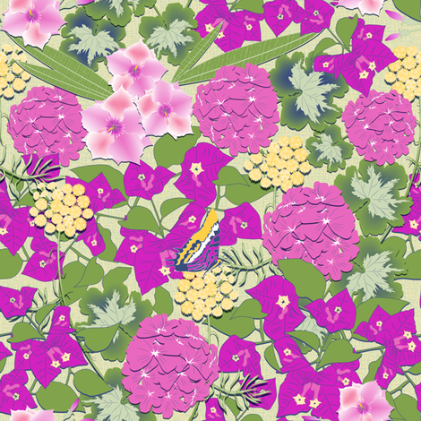 Capri Garden fabric by vannina on Spoonflower - custom fabric
