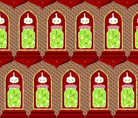 Precious Pickled Persian Pavilions fabric by moirarae on Spoonflower - custom fabric
