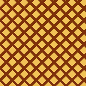 Brown Lattice on gold