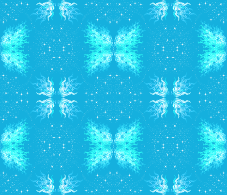 fire and ice fabric by pamelachi on Spoonflower - custom fabric