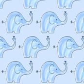 Soft Blue Elephants