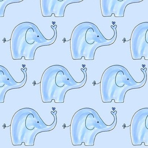 Soft Blue Elephants