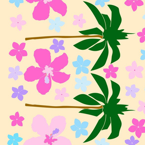 Palm Trees & Flowers