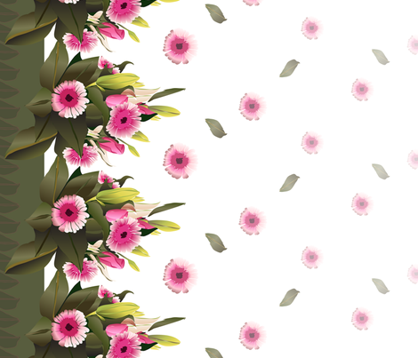 Bouquet Border  fabric by colour_angel_by_kv on Spoonflower - custom fabric