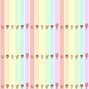 Pastel Rainbow Willie and Kids