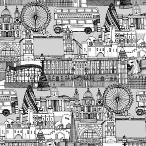 london toile black white