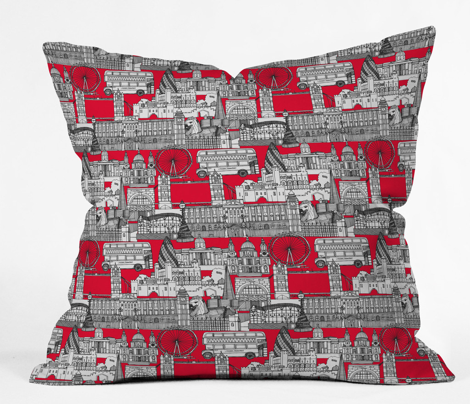 London toile red