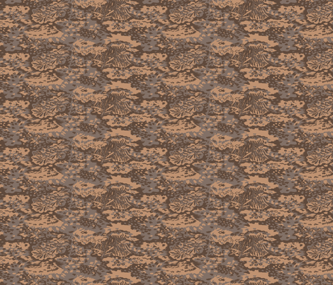 1:6 Scale Palm Camo Fall Colors fabric by ricraynor on Spoonflower - custom fabric