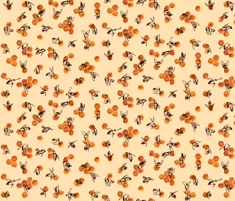 Bees and Honey fabric by thomas_henderson on Spoonflower - custom fabric