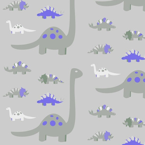 Blue and Gray Dinosaurs for Baby