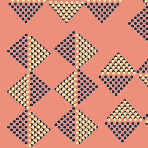 Dotted Triangles Tribal Geometric Texture