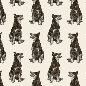Heeler Fabric Wallpaper Home Decor Spoonflower