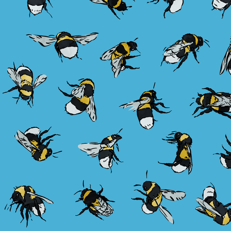 Bombus hortorum fabric by thomas_henderson on Spoonflower - custom fabric