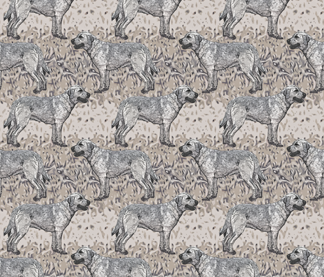 Standing yellow Labrador Retriever - sand fabric by rusticcorgi on Spoonflower - custom fabric