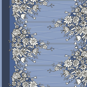 Floral border print - small
