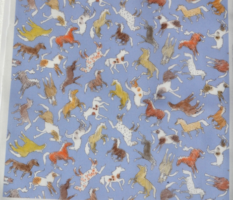 Wild Horses, Tinted on Blue