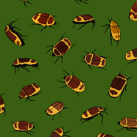 Sun Beetles fabric by thomas_henderson on Spoonflower - custom fabric