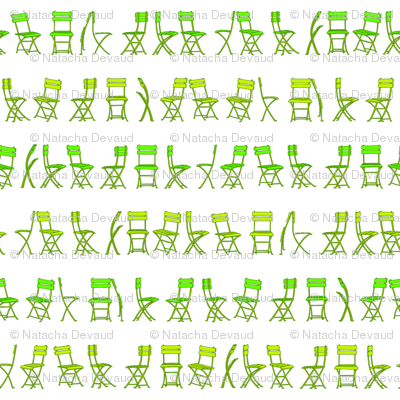 bistro chairs green 8 inches