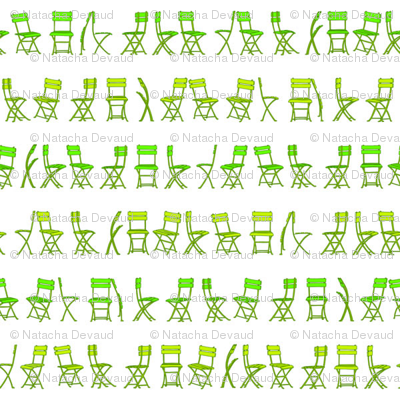 bistro chairs green 4 inches