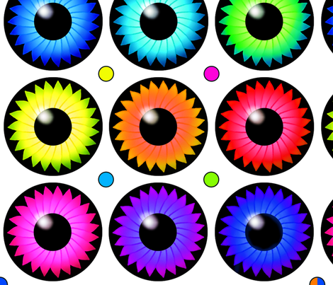 Silly Eyes & Dots fabric by sssowers on Spoonflower - custom fabric