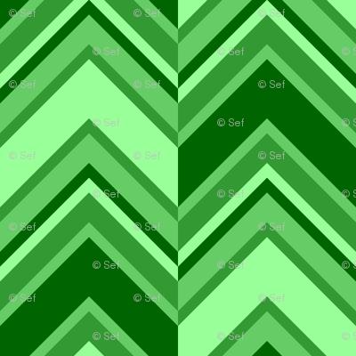 binary chevron - emerald green