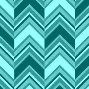 binary chevron - cyan teal
