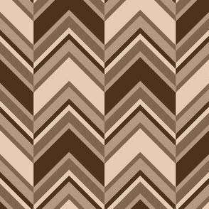 binary chevron - hemp brown