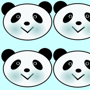 BABY BLUE PANDA FACE
