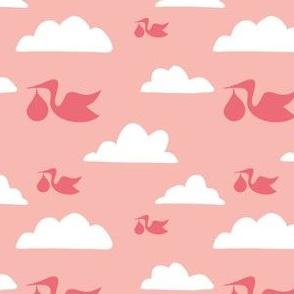 Stork Print - Pink