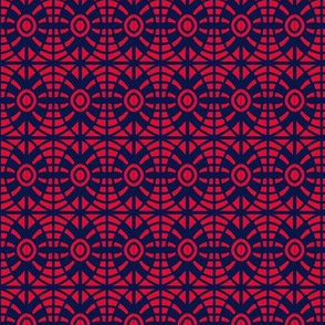 Shields Red Blue