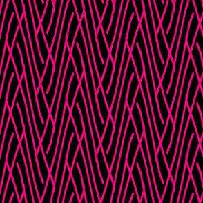 StripeDiagonal-SalmonBlack