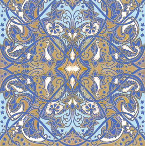 My Heart Belongs to Blue fabric by edsel2084 on Spoonflower - custom fabric
