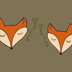 Woodland Foxes Rustic