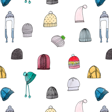 Hats- Multi fabric by andraelizabeth on Spoonflower - custom fabric
