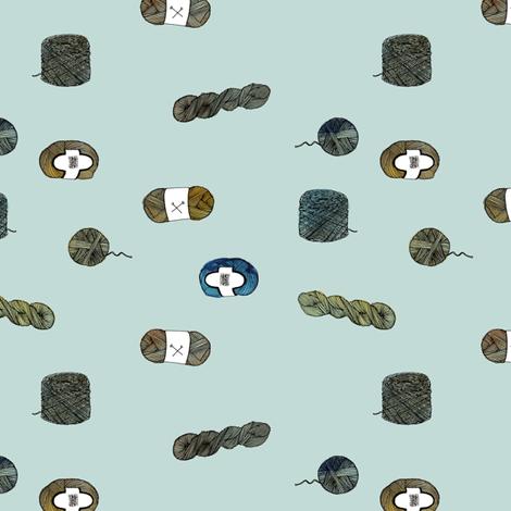 Yarn Forms - Blue fabric by andraelizabeth on Spoonflower - custom fabric