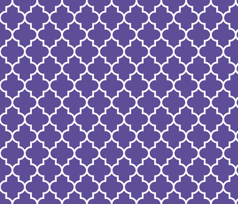 quatrefoil MED purple fabric by misstiina on Spoonflower - custom fabric