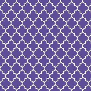 quatrefoil MED purple