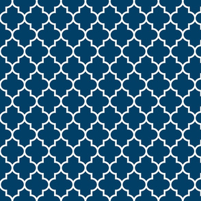 quatrefoil MED navy blue